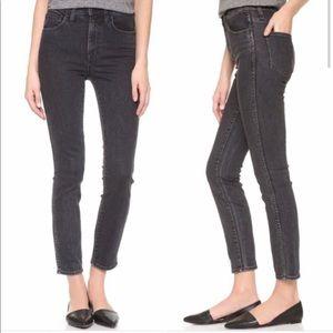 "Madewell 10"" High Riser Skinny Skinny Jeans Dark"